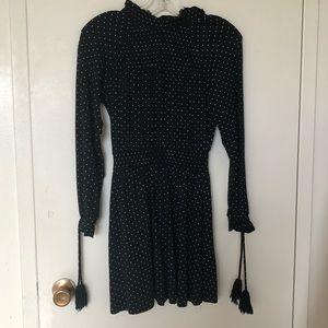 Topshop polka dot tassel dress